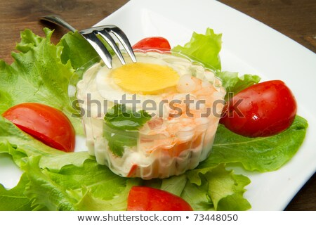 szynka · jaj · żywności · jaj · naczyń · płyty - zdjęcia stock © phbcz