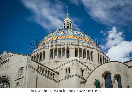 basílica · santuário · Washington · DC · inverno · dia · edifício - foto stock © backyardproductions
