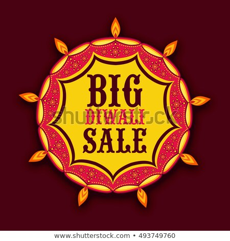 beautiful diwali sale discount promotional banner with diya on y Stock photo © SArts