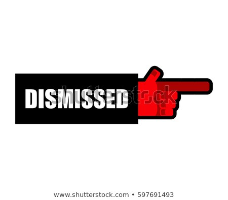 ストックフォト: Dismissed Hand Boss Indicates Finger Office Relationships