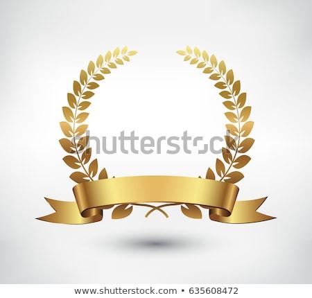 Vector oro laurel corona hojas patrón Foto stock © fresh_5265954