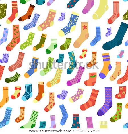 bonitinho · colorido · meias · padrão · criança - foto stock © softulka