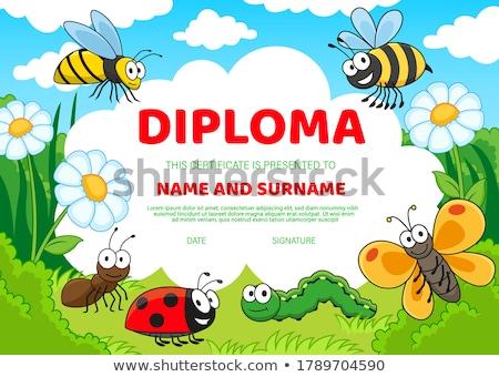 Joaninha pós-graduação ilustração papel escolas educação Foto stock © adrenalina
