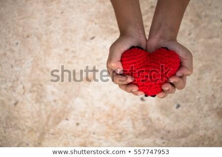 バレンタインデー 心 赤 愛 紙 抽象的な ストックフォト © Yatsenko