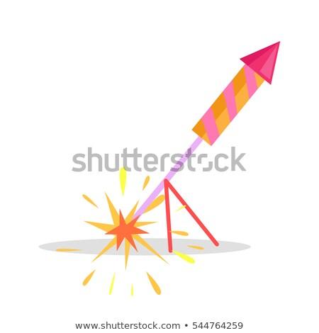 szett · színes · vektor · rakéta · négy · szín - stock fotó © robuart