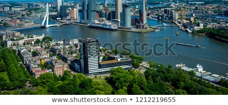 aerial panorama of rotterdam stock photo © benkrut