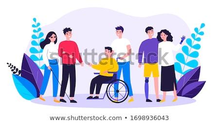 Handicapées homme illustration santé hôpital fauteuil roulant Photo stock © adrenalina