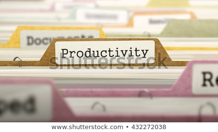Productivity on Business Folder in Catalog. Stock photo © tashatuvango