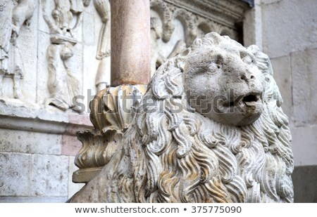 Stone sculptures on the exterior of the Cathedral in Modena (Ita Stock photo © stefanoventuri