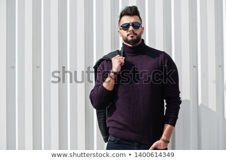 Portrait élégant barbu homme veste Photo stock © deandrobot