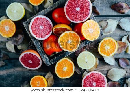 新鮮な かんきつ類の果実 白 オレンジ 緑 ストックフォト © Digifoodstock