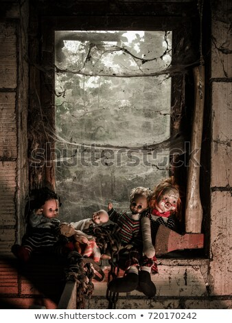 Creepy dolls and an axe by the window Stock photo © sumners