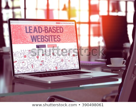 lead based websites concept on laptop screen 3d illustration stock photo © tashatuvango