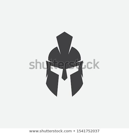 Spartalı kask logo şablon vektör ikon Stok fotoğraf © Ggs