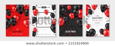 black friday poster with balloons stock photo © barbaliss