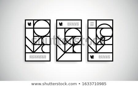 черный аннотация вектора вертикальный линия бизнеса Сток-фото © kurkalukas