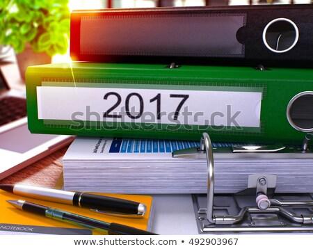 Goals for 2017 on Green Office Folder. Toned Image. 3D. Stock photo © tashatuvango