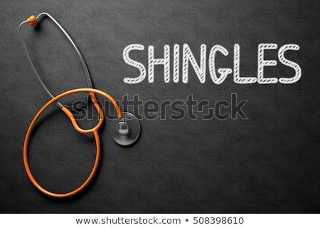 Chalkboard with Shingles. 3D Illustration. Stock photo © tashatuvango