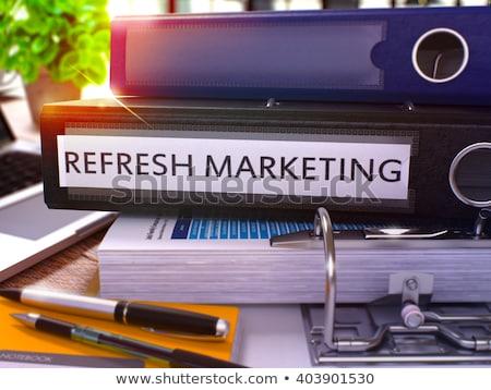 Frissít marketing gyűrű kép mappa dolgozik Stock fotó © tashatuvango