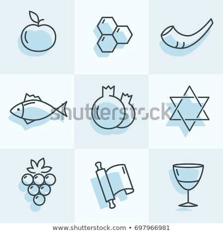 Rosh Hashana Icons stock photo © dimashiper