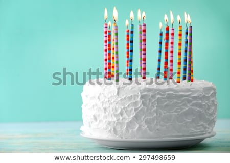Birthday cake and lots of candles. Burn  lot of candles. Sweetne Stock photo © popaukropa