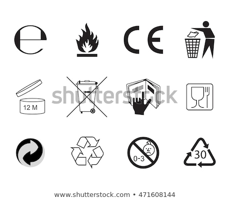 European Hazard pictogram Stock photo © Ecelop