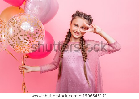 Photo stock: Portrait · séduisant · brunette · dame · parfait · cheveux
