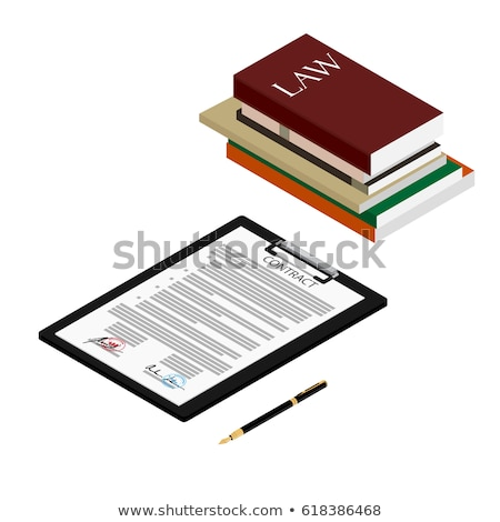 Law books isometric 3D elements Stock photo © studioworkstock