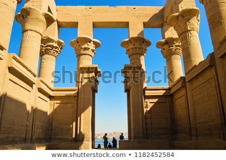 Egyiptom · templom · sivatag · halál · Afrika · sziget - stock fotó © FreeProd