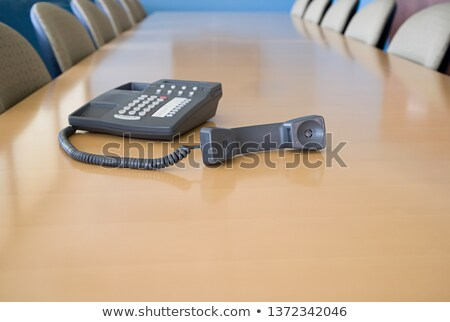 af · haak · retro · zwarte · telefoon · focus - stockfoto © is2