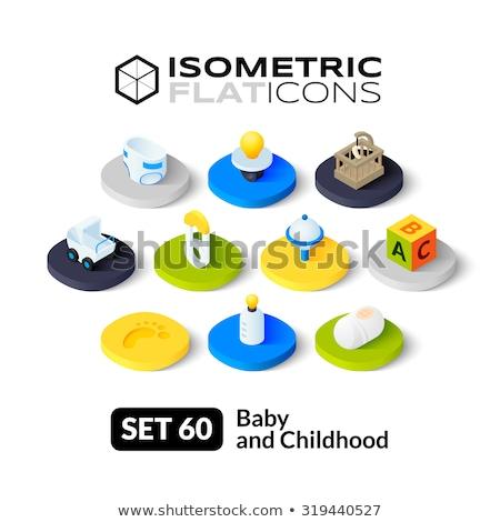 Luiers isometrische icon geïsoleerd kleur vector Stockfoto © sidmay
