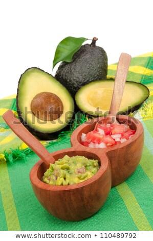 Kukorica nachos tortilla mexikói étel makró részlet Stock fotó © lunamarina