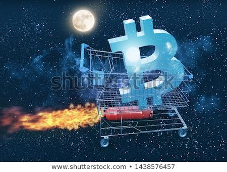 bitcoin · magas · növekedés · 3d · illusztráció · számítógép · fém - stock fotó © wetzkaz