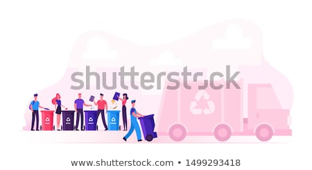 Man loading recycling into car Stock photo © IS2