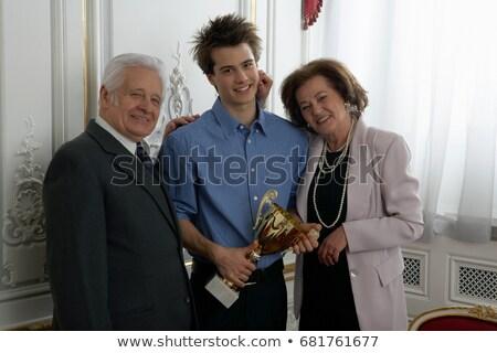 祖父母 トロフィー ブダペスト ストックフォト © IS2