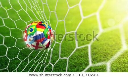 Futebol grama diferente bandeiras 3D Foto stock © andreasberheide