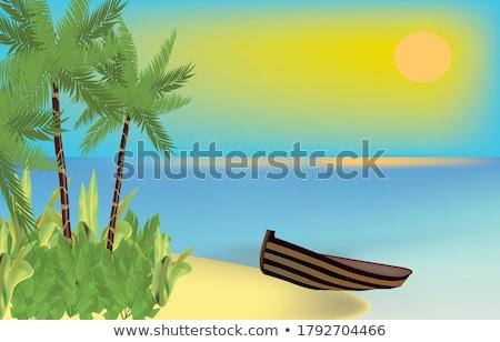 Sunken boat. Stock photo © bryndin