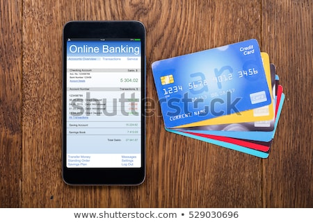 Smartphone with the text Online Banking on the display Stock photo © Zerbor