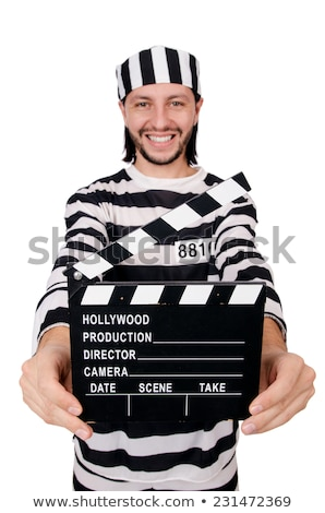Vicces börtön bennlakó film tábla izolált Stock fotó © Elnur