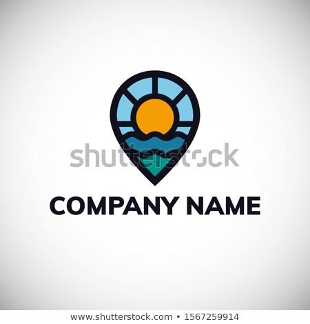 Stockfoto: Reizen · resort · logo · wereld · teken · vliegtuig