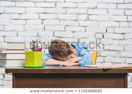 студент школьник устал обучения спальный Сток-фото © Kzenon