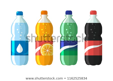 Cola Bottle With Colorful Bubbles Stok fotoğraf © MarySan