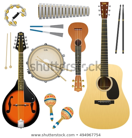 Ukulele - Hawaiian musical instrument. Vector illustration on white Stock photo © m_pavlov