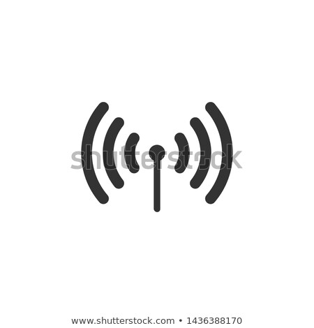 wifi connection signal icon with lock in the circle vector illu stock photo © kyryloff