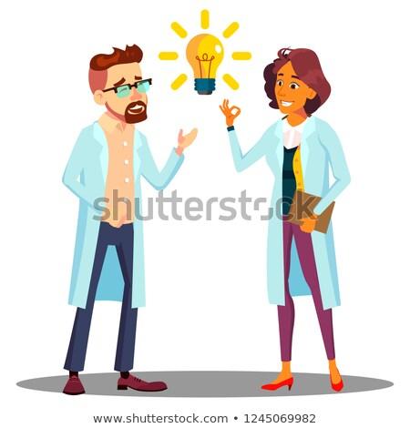 Médico homem mulher responder solução idéia Foto stock © pikepicture