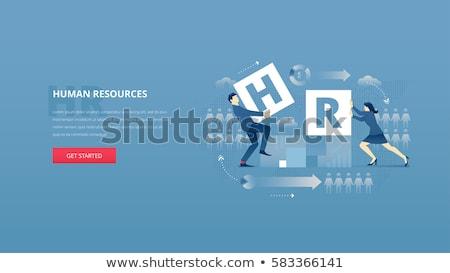 Menschlichen Ressourcen Banner Kopfzeile Manager professionelle Stock foto © RAStudio