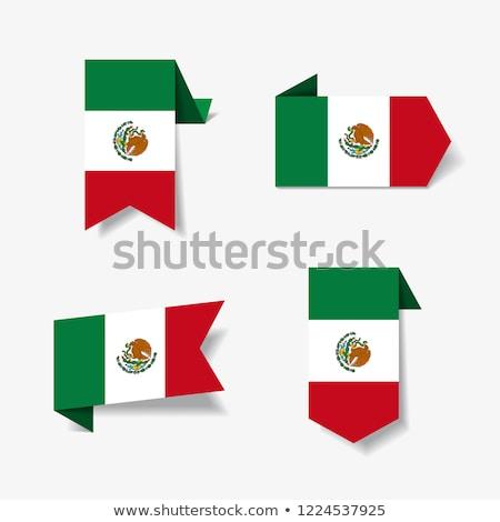 México bandera cuadrados papel ilustración diseno Foto stock © colematt