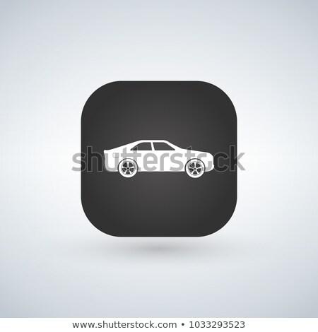 Sedan araba model siyah uygulaması ikon Stok fotoğraf © kyryloff