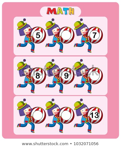 Matematika sablon golyók illusztráció papír háttér Stock fotó © colematt