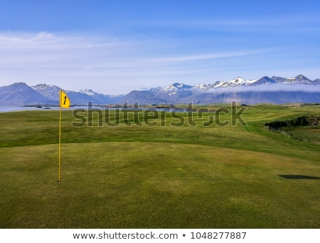 Landscape with golf courses in Iceland Stock photo © Kotenko